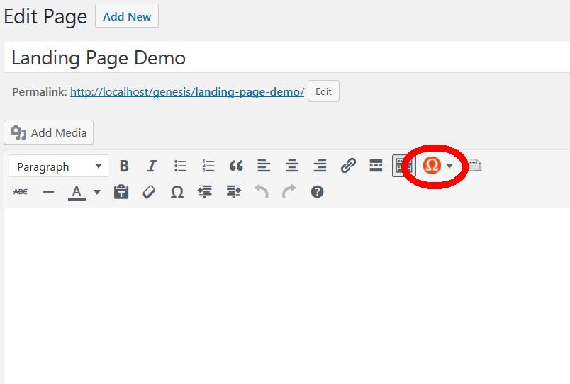 the socrates button in wordpress editor
